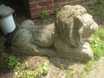Cement Lion Statue in St. Charles, Illinois