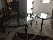 Coffee table with 2 matching end tables in Beaufort, South Carolina