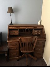Wood desk and chair in Camp Pendleton, California
