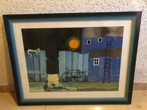 Night painting, framed in Ramstein, Germany
