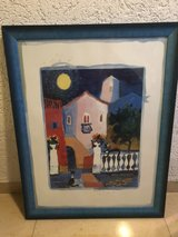 house painting, framed in Ramstein, Germany