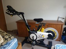Stationary Bike-Tour De France in Fort Lewis, Washington