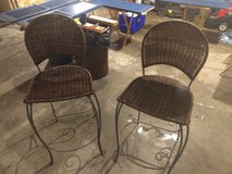 2 woven wrought iron chairs in New Lenox, Illinois