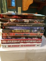 DVD's Still Sealed Never Played SLEDGE HAMMER Seabiscuit Rocky Superman Into the Blue & More! in Brookfield, Wisconsin