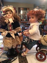 Porcelain dolls  one on bike gone in Conroe, Texas