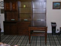 """3-Piece  3/4""""  Oak L Shape Office Desk And Book shelfing With Compluter ,File Cabinet W.Pull Ou ... in Naperville, Illinois"""