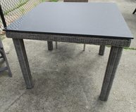 Outdoor Square Table, Slate-Look Top, Merchandise Mart Floor Sample in Bartlett, Illinois