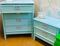 faux bamboo chest and nightstand in Naperville, Illinois