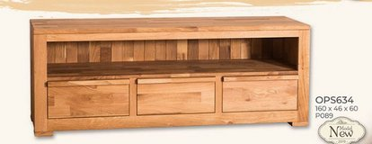 United Furniture - TV Stand 63 inch - Solid Wood - Wild Oak including delivery- Wax or Oil Finish in Shape, Belgium