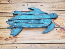 3D wooden wall art turtle in Camp Lejeune, North Carolina