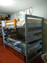 Strong solid wood Bunk Beds made to grow with child until late teenage in Perry, Georgia