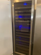 Beautiful stainless steel wine cooler in Houston, Texas