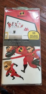 Incredibles 2 Peel and Stick Wall Decals - BRAND NEW in Box!  (23 Wall Decals TOTAL!!) in Quantico, Virginia