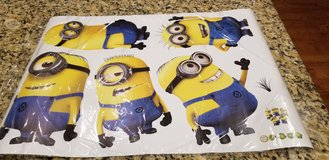 DESPICABLE ME Peel and Stick wall decals - BRAND NEW in wrapper they came in (5 characters) in Quantico, Virginia