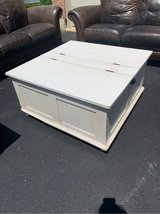white storage coffee table in St. Charles, Illinois