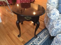End table - oval mahogany high end STATTON brand in Naperville, Illinois