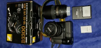 Nikon 3300 with extras in Westmont, Illinois
