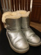 Girl UGG Silver Boots in Naperville, Illinois