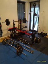 Complete Weight Bench Set Including Bars and Weights *SEE LIST* in Ramstein, Germany