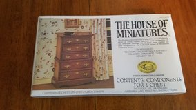 House of Miniatures #40009 Chippendale Chest on Chest Kit NEW in Yorkville, Illinois