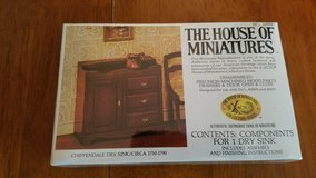 House of Miniatures #40019 Chippendale Dry Sink Kit  NEW in Yorkville, Illinois