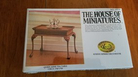 House of Miniatures #40039 Queen Anne Tea Table Kit  NEW in Batavia, Illinois