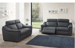 United Furniture - Livingroom Set Girodan in Gray Material including delivery in Grafenwoehr, GE