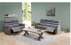 United Furniture - Faro Recliner Set - in Anthracite Material - with Recliner Chair $1620 in Wiesbaden, GE