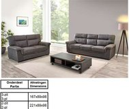 United Furniture - Florenze Living Room set in Graphite material including delivery in Shape, Belgium