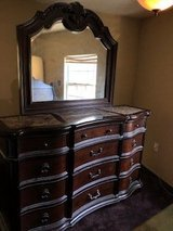 Solid Wood Dresser with Mirror and matching nightstand in Kingwood, Texas