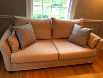 Small Couch, lightly used - removable and washable cover in Glendale Heights, Illinois