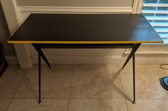 Modern Black Desk with Yellow Trim in Houston, Texas