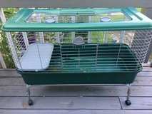 Rabbit/Small animal cage on stand with wheels in Bartlett, Illinois