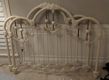 White Iron Bed with Frame-Full Size in Houston, Texas