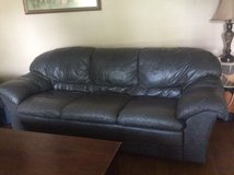 Italian Leather Couch, Loveseat and Ottoman in Camp Lejeune, North Carolina