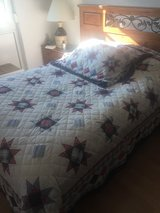 3 piece queen size quilt  plus candle holder in Ramstein, Germany