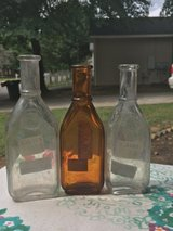 antique glass bottles lot of 3 in Byron, Georgia