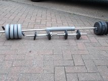 Weight Bar with weights in Lakenheath, UK