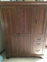 Wood Computer Cabinet with Storage in Tinley Park, Illinois