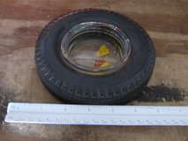 Vintage Seiberling Rubber Company Rubber Tire with Glass Center AshTray in Westmont, Illinois