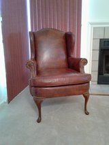 Leather wing back chair in Fort Belvoir, Virginia