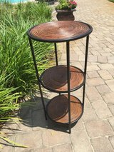 Bamboo and Metal Plant Stand in Beaufort, South Carolina