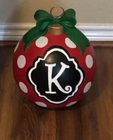 Large K monogram ornament in Cleveland, Texas