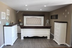 Shaby Chic Rustic White Distressed Bedroom Set in Kingwood, Texas