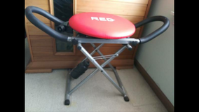 Ab MACHINE SEATED SWIVEL EXERCISE FUN SEAT WITH HANDLES FOLDS UP in Naperville, Illinois