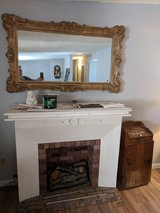 Old hand made replica fireplace in 29 Palms, California