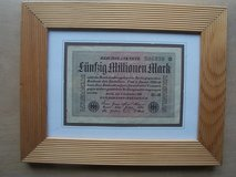 1923 German Reichbanknote (framed) in Wiesbaden, GE