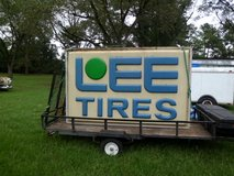 Large Lee Tire sign (lighted) in Warner Robins, Georgia