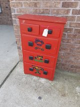 Small red car themed dresser in Fort Leonard Wood, Missouri
