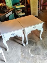 pair signed night stands/ end tables in Cherry Point, North Carolina